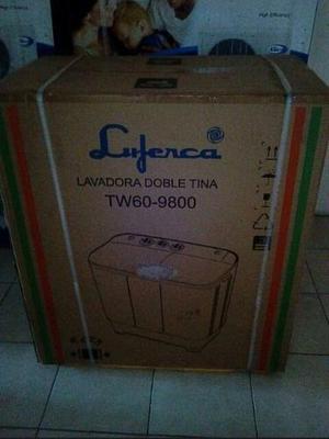 Lavadora semi automatica de 6 kg marca luferca