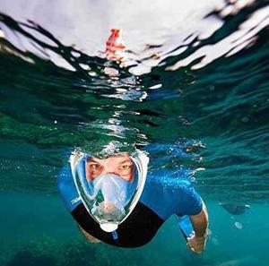 5c86fd129 Máscara de snorkel de cara completa para buceo superficial en ...
