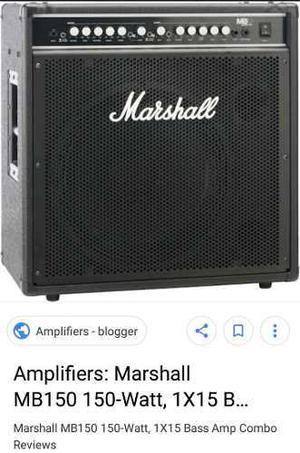 Amplificador de bajo marshall mb 150 watt