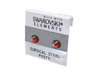 Zarcillos con cristal de swarovski y acero quirurgico
