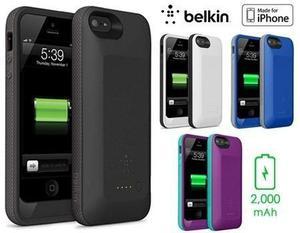 f55c9cc01fb Forro case cargador 2200 mah para iphone 5/5s belkin
