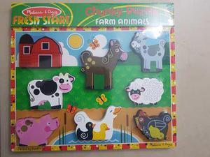 Juguete rompecabezas didáctico animales melissa & doug