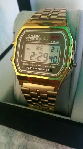26b297a931d5 Reloj casio retro vintage dorado y plateado 2018 en Venezuela ...