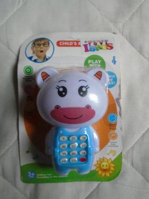 Telefono de juguete para bebés niños oso vaquita