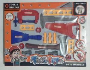Set construccion herramientas niños plastico 17 piezas