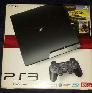 Playstation 3 slim 120gb. + 2 controles + 6 juegos