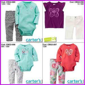 Ropa carters conjuntos vestidos bebes niñas niños 3m a t5