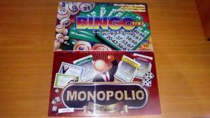 Juego De Mesa Monopolio Bingo Nuevo