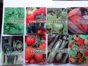 Semillas en sobres certificadas e importadas