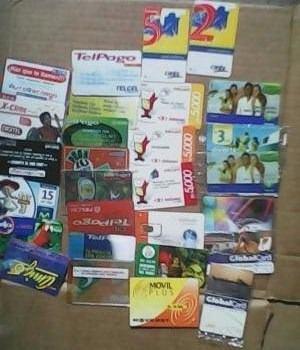 Coleccion tarjetas telefonica cantv movilnet telcel movistar