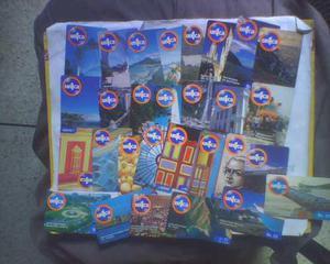 Remato 500 tarjetas terjetas telefonicas usadas diferentes