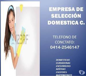 Selección y suministro domestico personal calificado