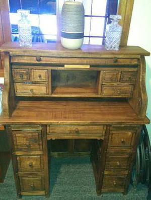 Espectacular mueble escritorio de madera caoba mesa vintage