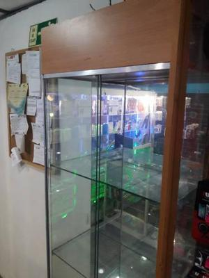 Vitrina exhibidor estante lujo 4 niveles vidrio madera