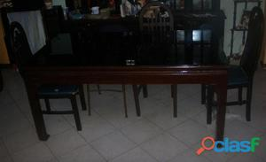Comedor mesa vidrio anuncios mayo clasf for Mesa de madera con vidrio
