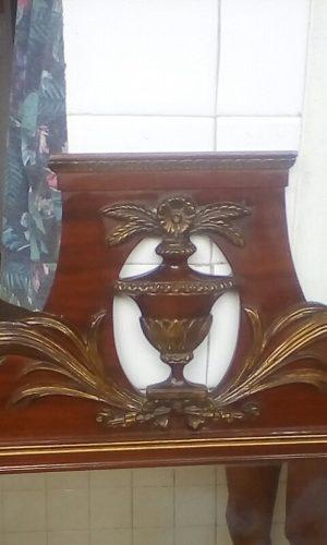 Espejo antiguo madera caoba