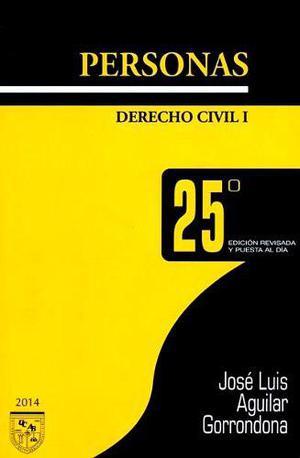 Libro de derecho civil: personas / aguilar gorrondona (pdf)
