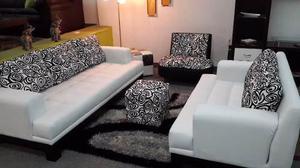 Muebles sofa juego de sala en bipiel somos tienda física