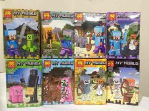 Muñecos armables estilo lego figuras minecraft my world