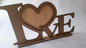 Portaretrato love en mdf, regalo, dia del amor