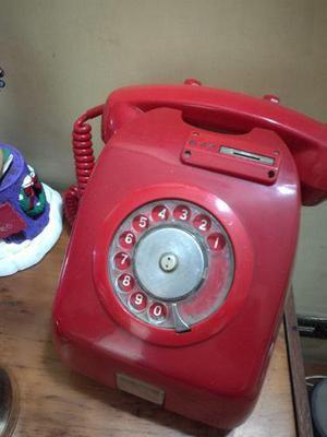 Telefono rojo monedero antiguo coleccion