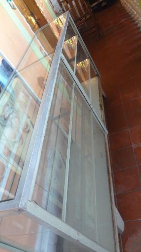 Vitrina exhibidor/mostrador de vidrio usado