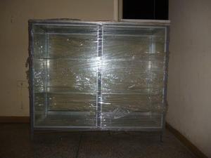 Vitrina mostrador exhibidor estante de vidrio nuevo sin uso
