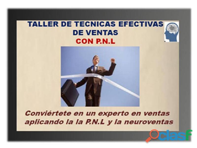 Taller de tacnicas efectivas de ventas con p.n.l