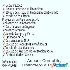 Asesor contable, financiero y tributario