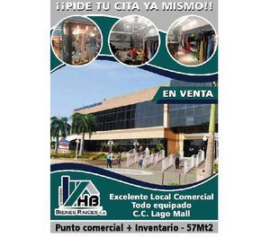 Local comercial equipado en alquiler cc lago mall