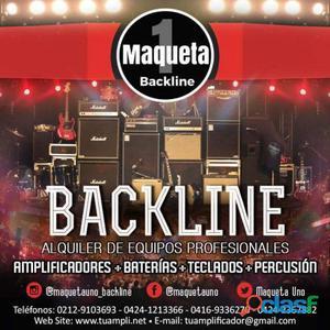 Alquiler de backline para conciertos, presentaciones, etc.