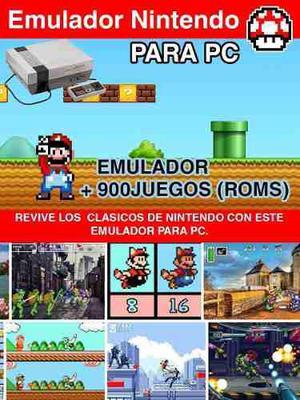Emulador nintendo para pc con mas de 900 juegos