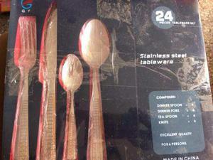 Juego cubiertos stainless 24 piezas para 6 personas