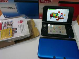 Nintendo 3ds xl azul con 5 juegos 3d nuevo tienda fisica