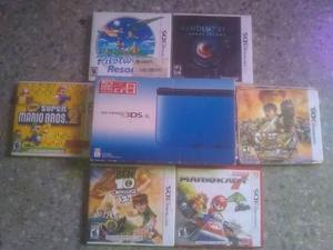 Nintendo 3ds xl + chip virtual + 6 juegos fisicos