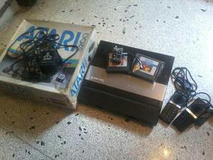 Atari 5200 con su caja controles juegos de coleccion leer
