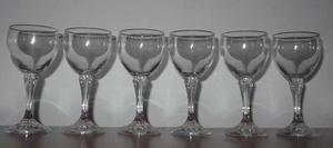 Juego de copas y vasos cristal de bohemia 21 piezas jolly
