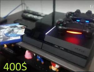 Playstation 4 de 500gb + 4 juegos