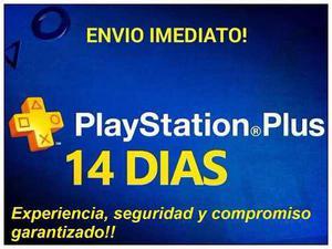 Ps4-ps3-psvita plus 14 dias con juegos del mes gratis!!