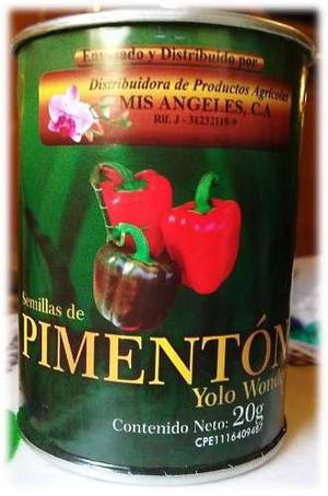 Semillas certificadas de pimentón yolo wonder 20 gr