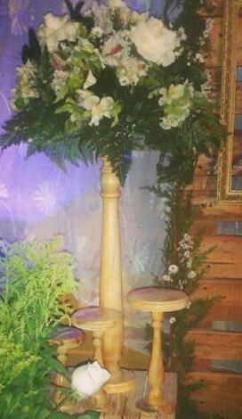 Base torneada candelabro madera pino pata mesa 100 cm remate