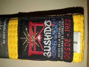 Cinta amarilla bushido-karate talla 0- $3