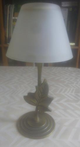 Lampara decorativa candelabro porta vela metal vidrio