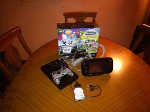 Nintendo wii u con 2 controles y pantalla táctil+20 juegos