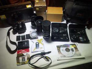 Camara nikon d3200 + accesorios