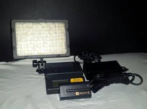 Luz led para video y fotografía+batería sony+cargor2
