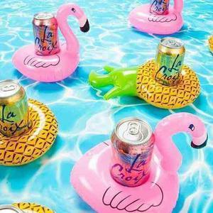 Mini inflables portavasos para piscina o playa