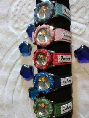 Relojes para niños y niñas snoopy y winny pooh