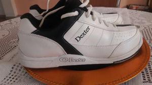 Zapatos de bowling dexter y pelotas