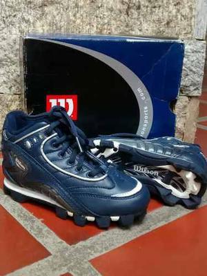 Zapatos de taco, beisbol, wilson originales, talla 11,5